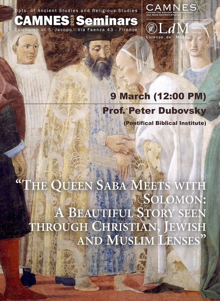The Queen Saba meets with Salomon: A beautiful story seen through Christian, Jewish and Muslim lenses