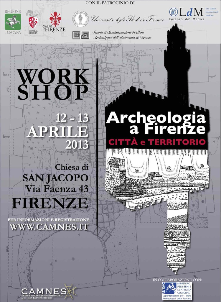 Workshop Archeologia a Firenze: Città e Territorio