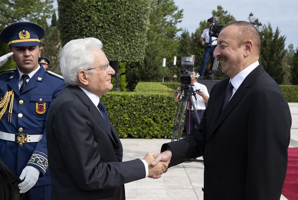 CAMNES meets the Italian President of the Republic Mattarella in Baku (Azerbaijan)