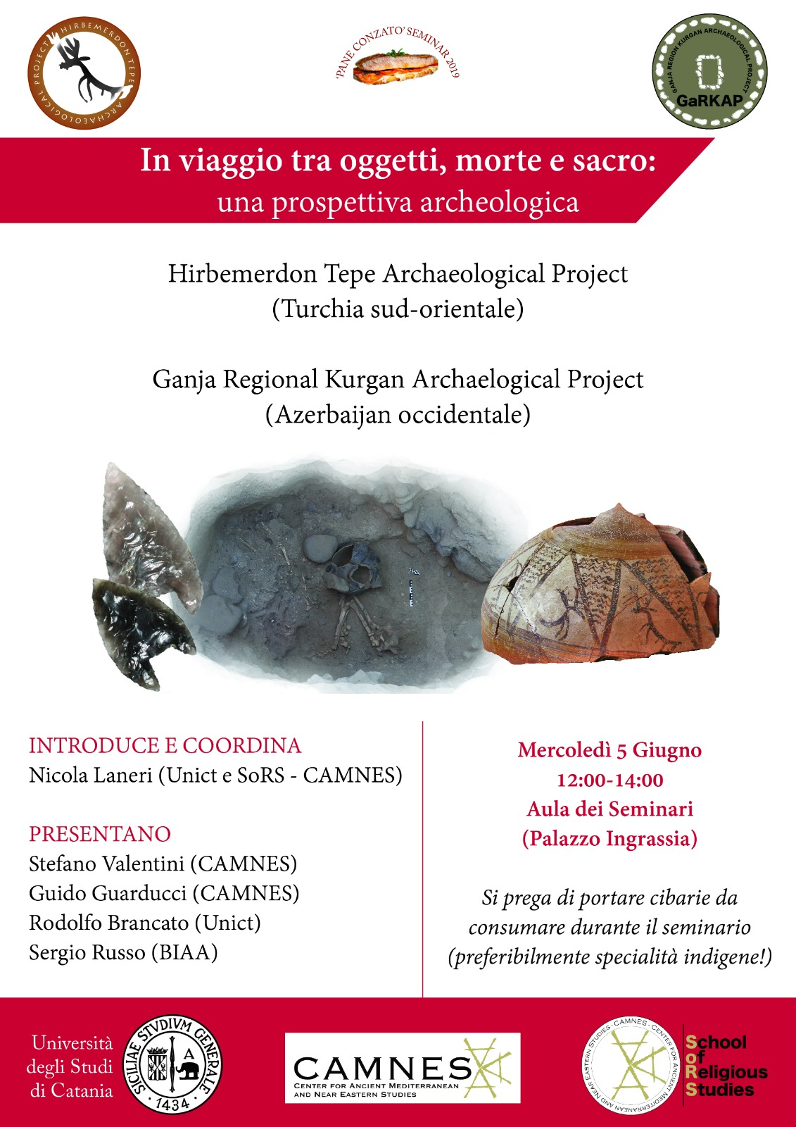 SEMINAR: Traveling between Objects, Death and the Sacred: An Archaeological Perspective (in Italian)