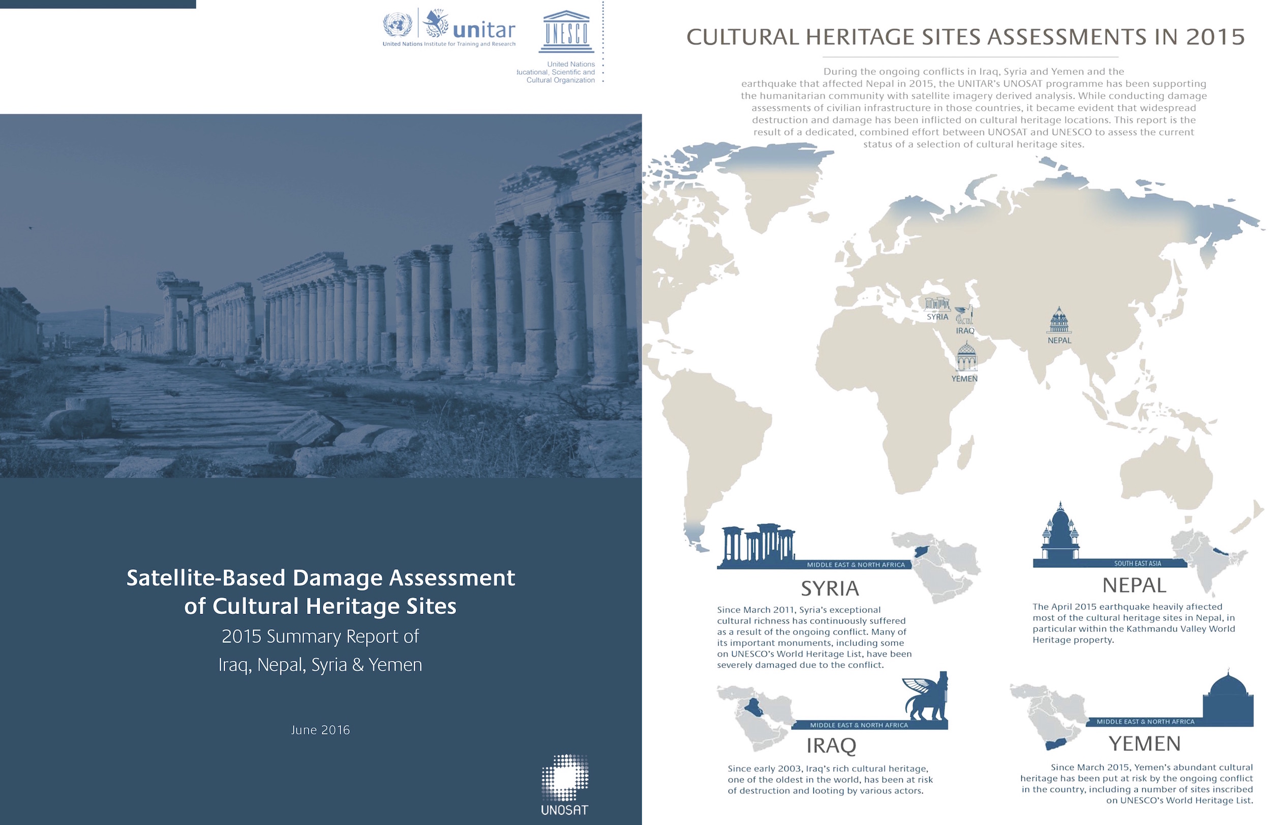 UNESCO-UNITAR Report: Satellite-Based Damage Assessment of Cultural Heritage Sites