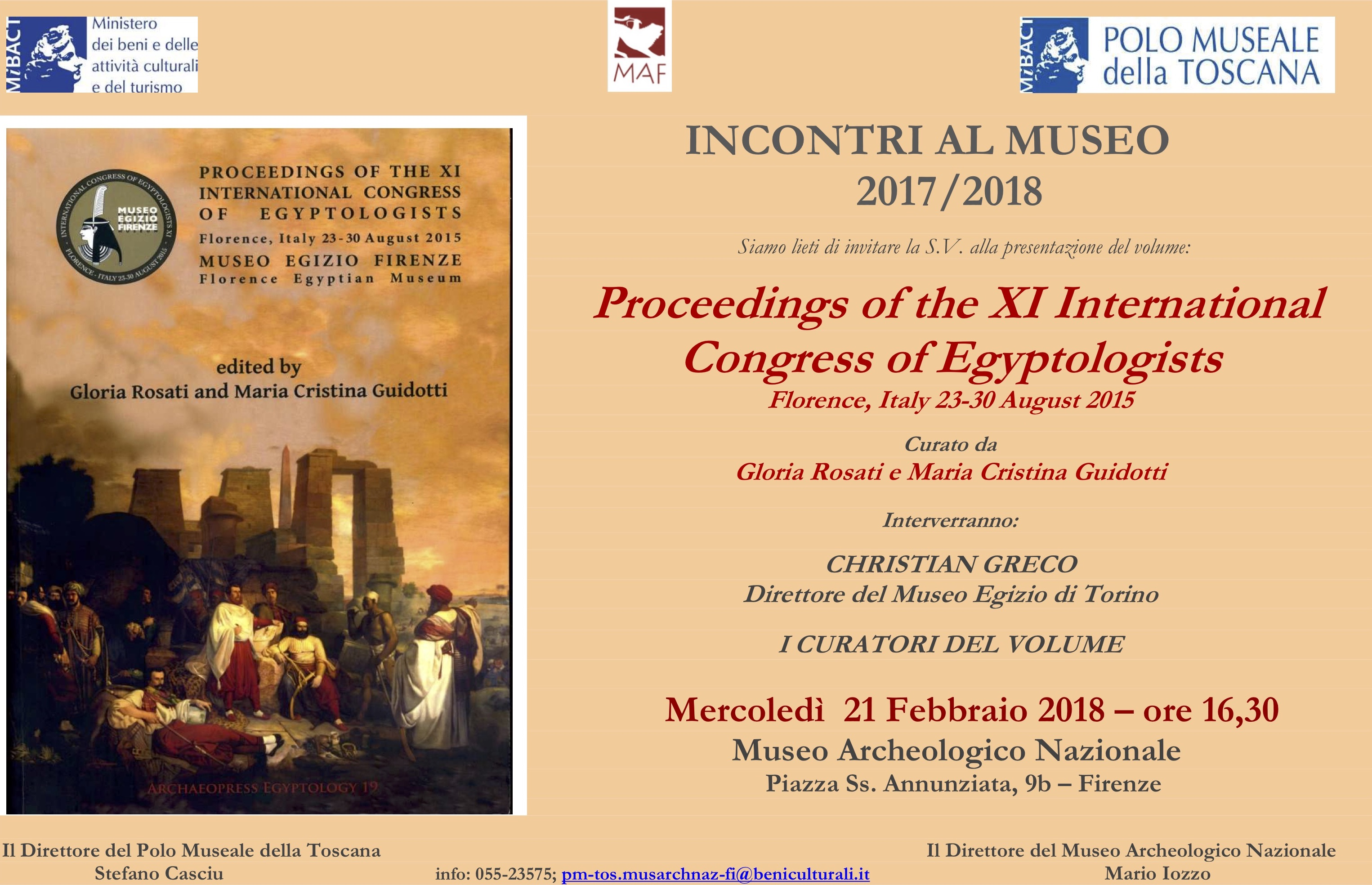 Presentation of the Proceedings of the International Congress of Egyptologists XI