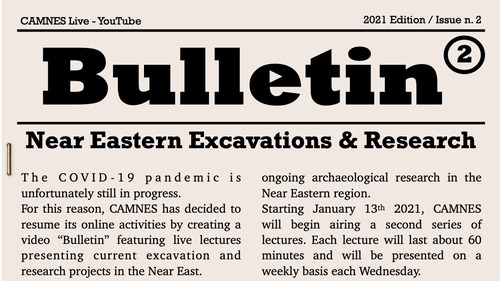 BuNEER 2: Bulletin of Near Eastern Excavations and Research